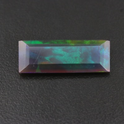 Loose 4.00 CT Rectangular Faceted Opal