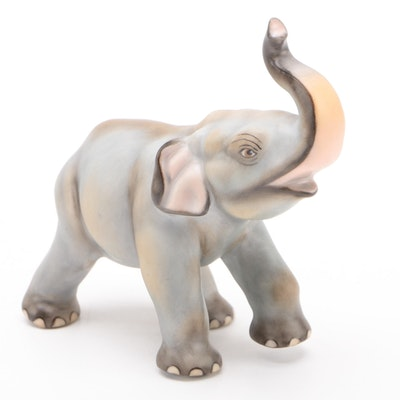 Herend Guild 175th Anniversary Natural Porcelain Elephant Figurine, April 2001