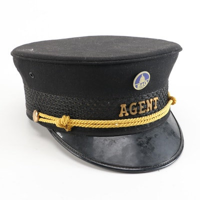 B&O Railroad Union Made Agent Hat,  Vintage