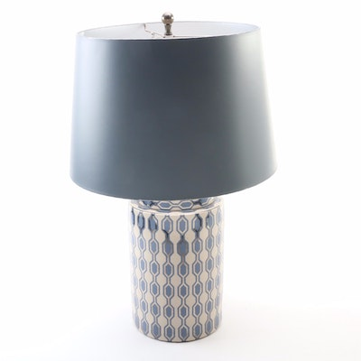 Kelly Hoppen Geometric Porcelain Table Lamp