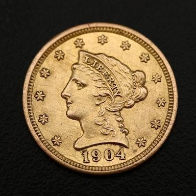 1904 Liberty Head $2.50 Gold Quarter Eagle Coin