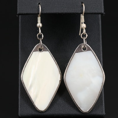 Mother of Pearl Rhombus Dangle Earrings