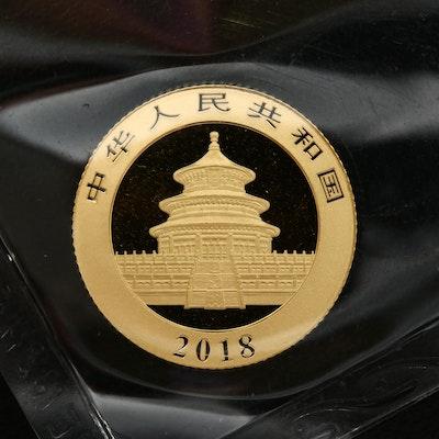 2018 China 50-Yuan Gold Panda Bullion Coin