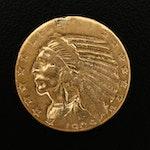 1909 Indian Head $5 Gold Half Eagle Coin