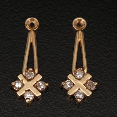 14K Diamond Earring Enhancers