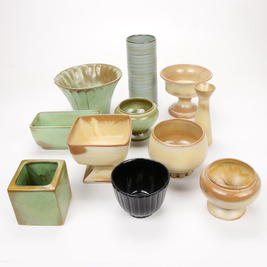 """Frankoma """"Prairie Green"""", """"Desert Gold"""" and Other Sapulpa Clay Pottery, 1950s"""