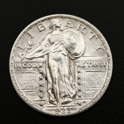 Uncirculated 1923 Standing Liberty Silver Quarter
