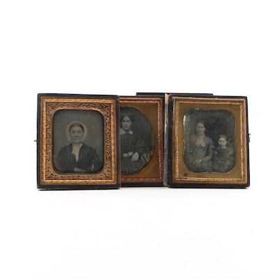 Portrait Daguerreotypes, Mid 19th Century