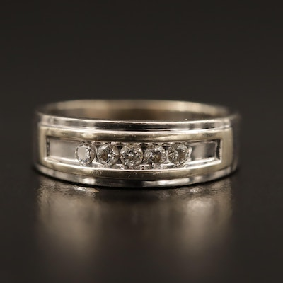 10K White Gold Diamond Band