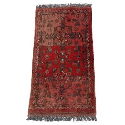 1'10 x 3'8 Afghani-Turkoman Wool Rug