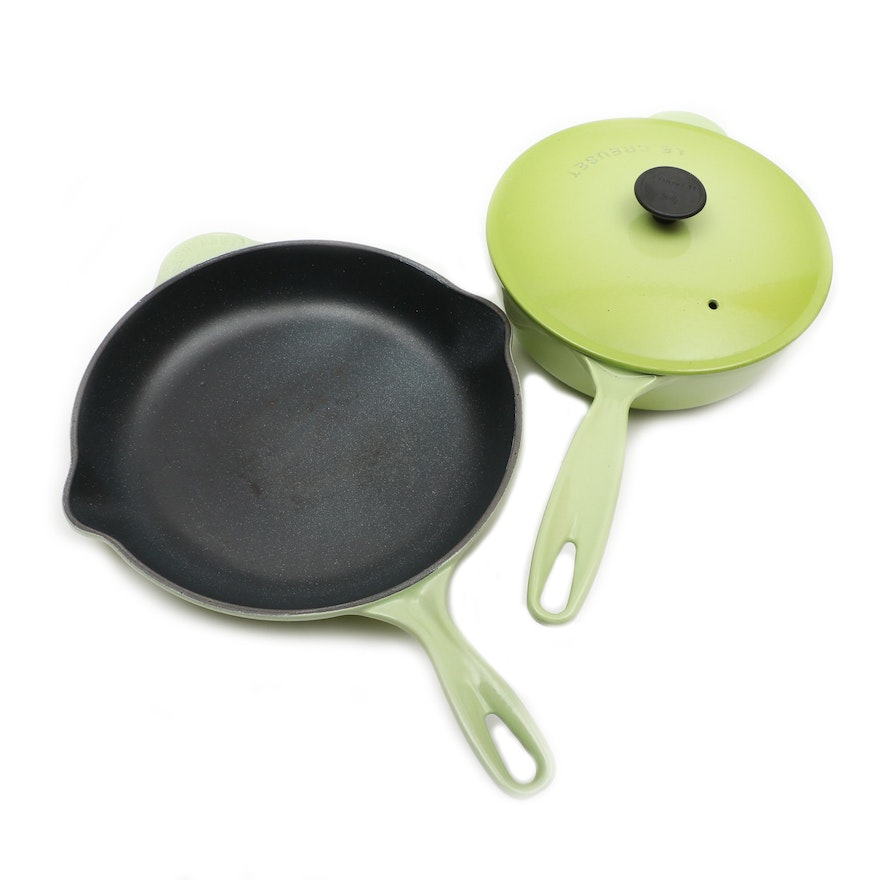 "Le Creuset ""Palm"" Green Enameled Cast Iron Cookware"