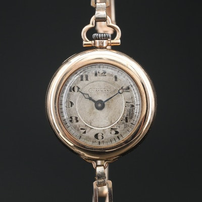 Mauran 10K Stem Wind Convertible Wristwatch