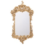 Rococo Revival Carved Gilded Wooden Mirror, Mid-Late 19th Century