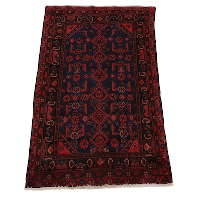 3'8 x 5'10 Hand-Knotted Floral Wool Rug