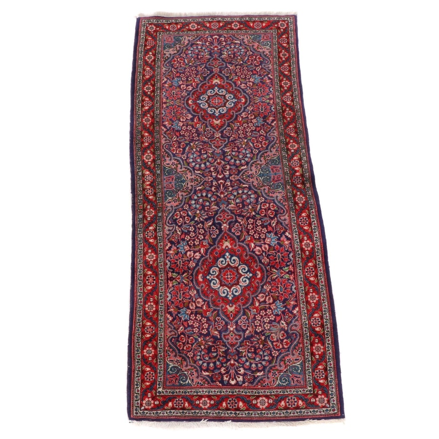 2'5 x 6' Hand-Knotted Floral Wool Accent Rug