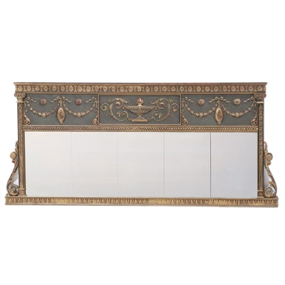 Neoclassical Style Polychrome Buffet Mirror, Early 20th Century