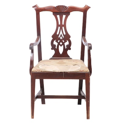 American Chippendale Mahogany Armchair, Late 18th Century