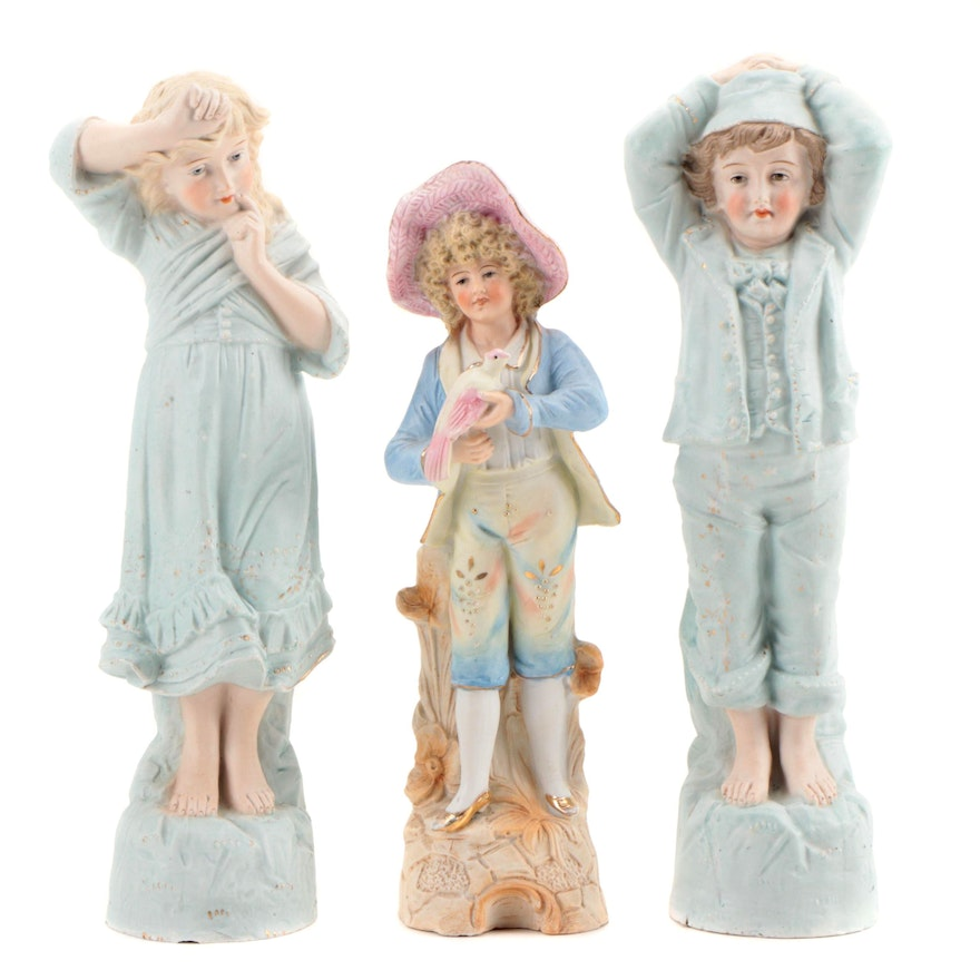German Bisque Figurines, Late 19th Early 20th Century