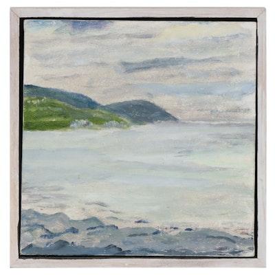 """Mountainous Seascape Oil Painting """"Cap-à-l'Aigle"""""""
