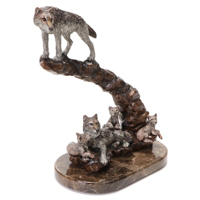 """Kitty Cantrell for Legends Cast Metal Sculpture """"Renewal"""", 1993"""