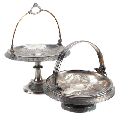 Rogers & Bro. Silver Plate Bride's Baskets