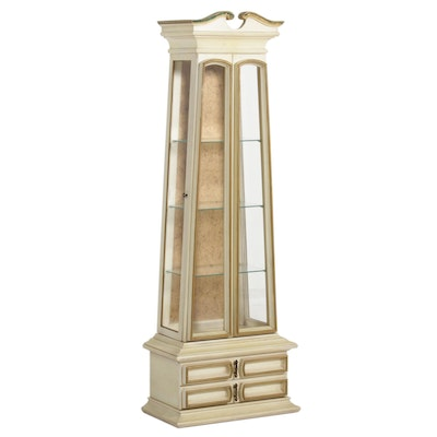 American of Chicago French Provincial Style Curio Cabinet, Mid to Late 20th C.