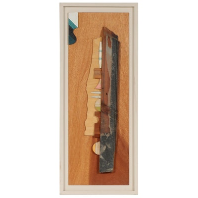 "Framed Carved Wood Sculpture ""Phenomenon"", 2002"