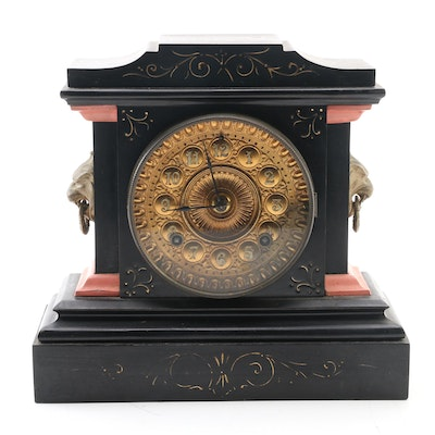 Ansonia Clock Co. Wooden Mantel Clock, Late 19th/Early 20th Century