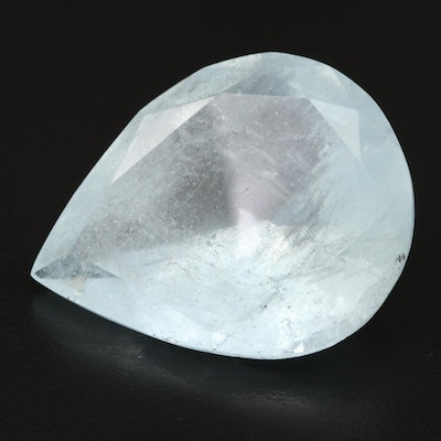 Loose 92.77 CT Pear Faceted Aquamarine
