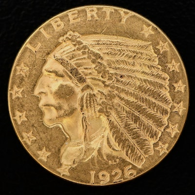 1926 Indian Head Gold $2.50 Quarter Eagle