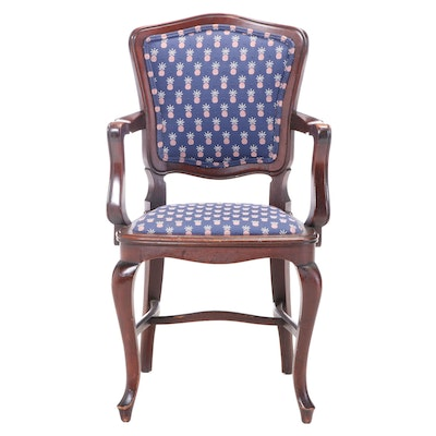 Milwaukee Chair Co. French Provincial Style Mahogany Armchair, dated 1928