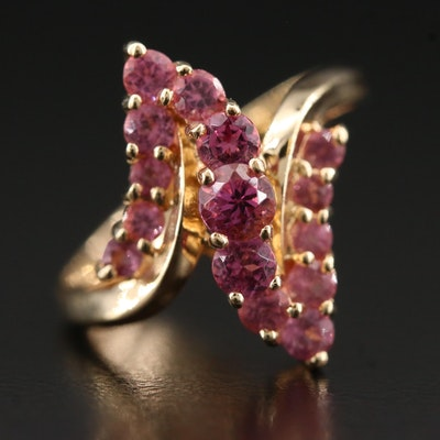 10K Garnet Zig Zag Ring