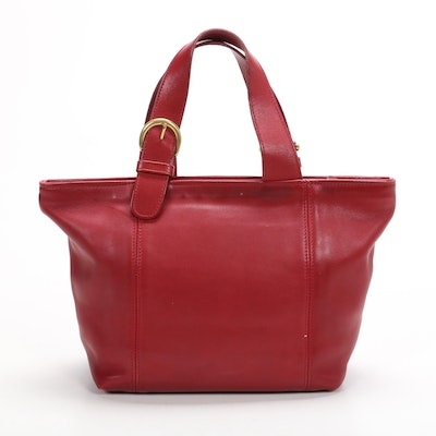 Coach Waverly Tote in Red Leather
