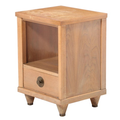 Kent-Coffey Mid Century Modern Limed Walnut and Oak Nightstand