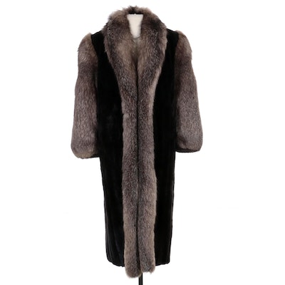 Mink and Platinum Fox Fur Coat by The Evans Collection