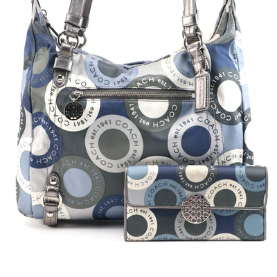 Coach Alexandra Two-Way Tote Handbag with Matching Wallet