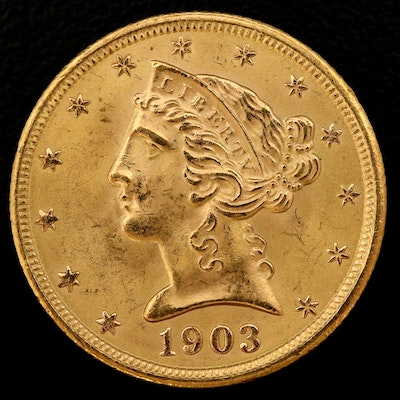 1903-S Liberty Head Gold $5 Half Eagle