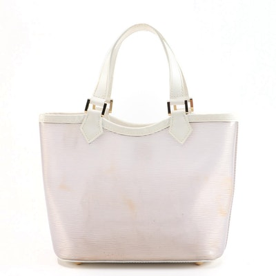 Louis Vuitton Lagoon Bay Tote in Clear Epi Plage with White Leather Trim