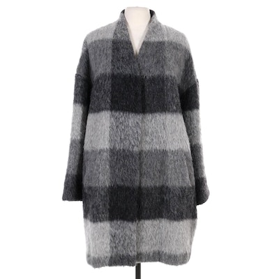 The Fisher Project Wool and Mohair Blend Check Coat