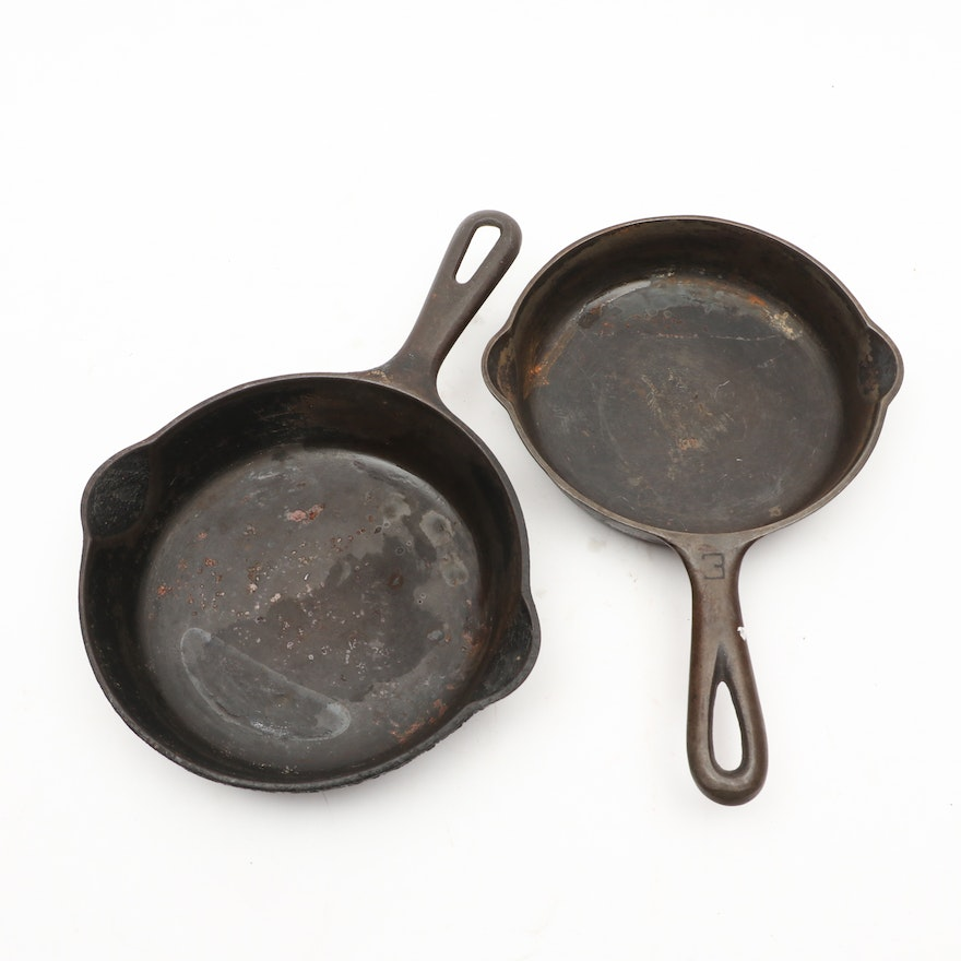 Griswold Cast Iron Skillets, Early 20th Century