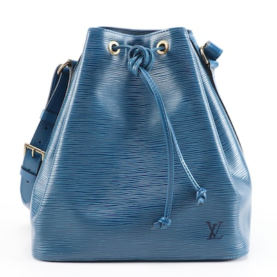 Louis Vuitton Noé in Toledo Blue Epi and Smooth Leather