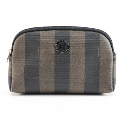 Fendi Accessories Bag in Pequin Striped Coated Canvas
