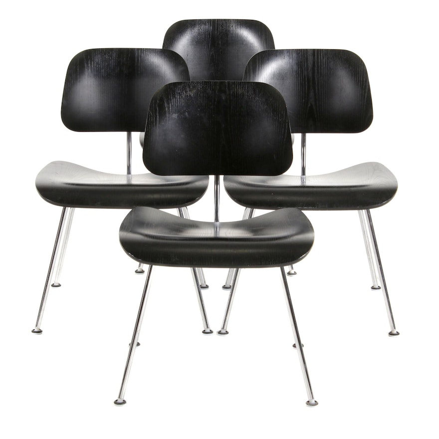 """Charles and Ray Eames for Herman Miller """"DCM"""" Plywood and Steel Chairs, 2007"""