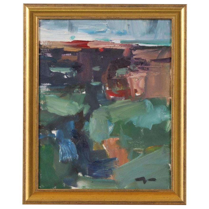 "Jose Trujillo Oil Painting ""Views"", 2019"