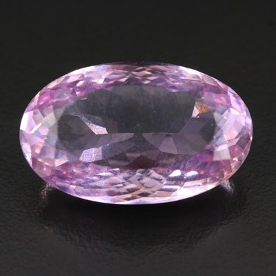 Loose 36.01 CT Oval Faceted Amethyst