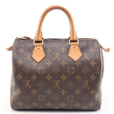 Louis Vuitton Speedy 25 in Monogram Canvas with Vachetta Leather Trim