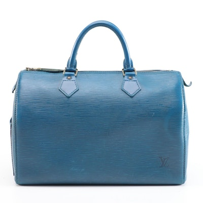 Louis Vuitton Speedy 30 in Toledo Blue Epi Leather