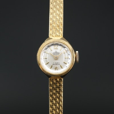 Cornavin Geneve 18K Gold Stem Wind  Wristwatch