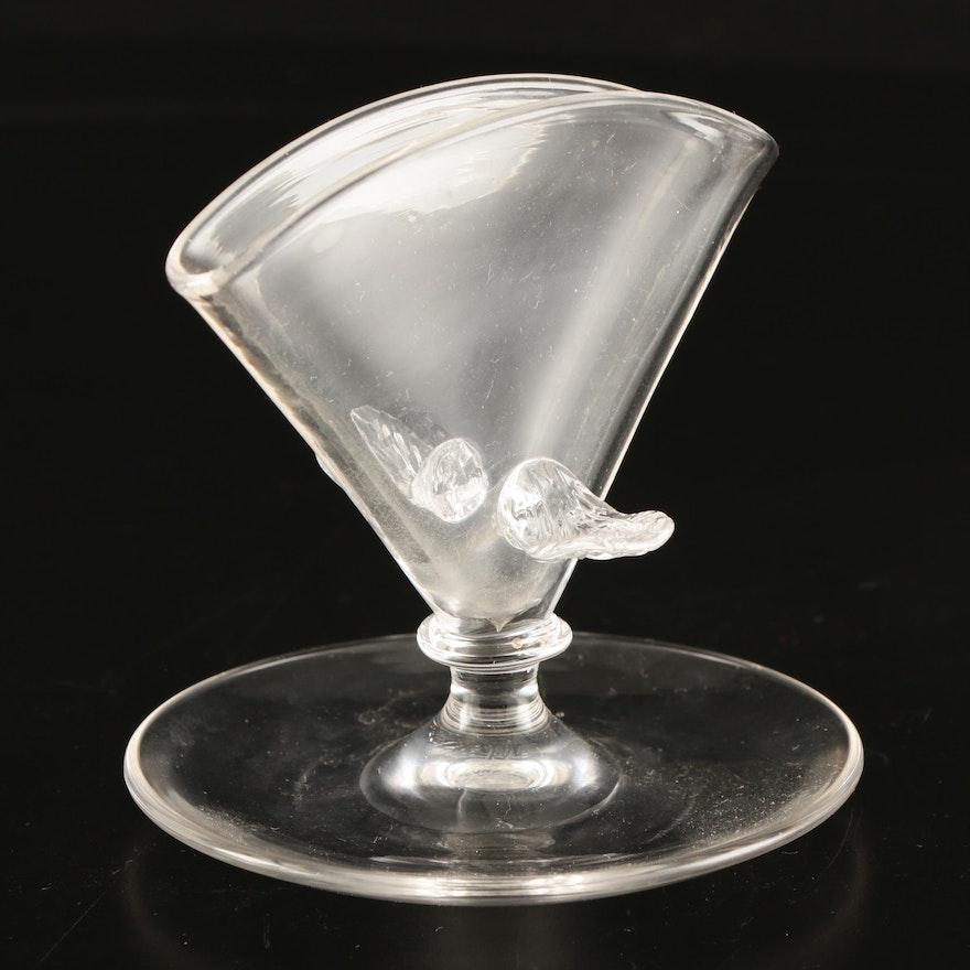 Steuben Frederick Carder Era Art Glass Crystal Card Holder