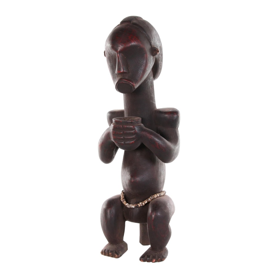 Fang Byeri Style Guardian Figure with Beads, Late 20th Century